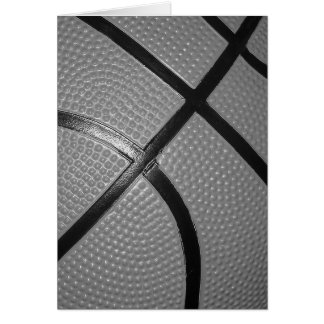 Black & White Close-Up Basketball Card