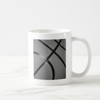 Black & White Close-Up Basketball Coffee Mug