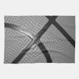 Black & White Close-Up Basketball Kitchen Towel