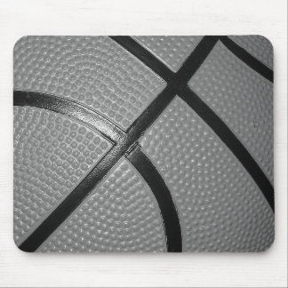 Black & White Close-Up Basketball Mouse Pad