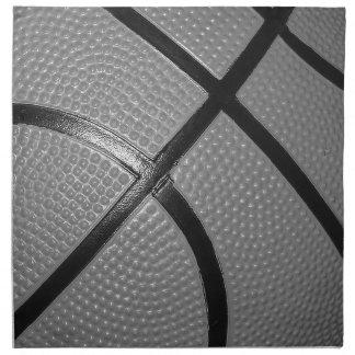 Black & White Close-Up Basketball Napkin