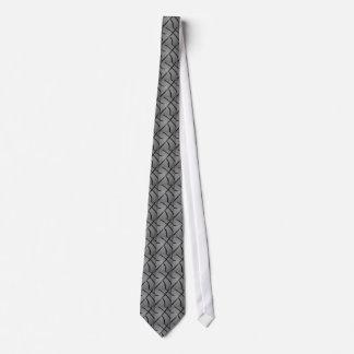 Black & White Close-Up Basketball Neck Tie