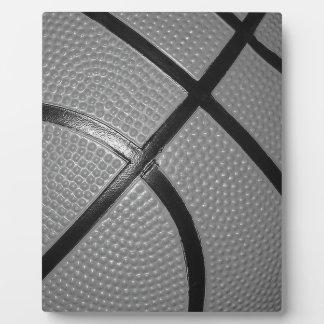 Black & White Close-Up Basketball Plaque