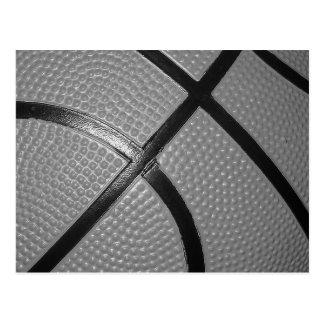 Black & White Close-Up Basketball Postcard