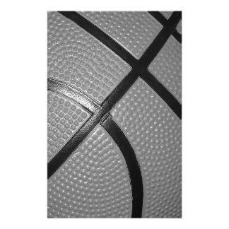 Black & White Close-Up Basketball Stationery