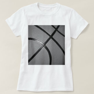 Black & White Close-Up Basketball T-Shirt