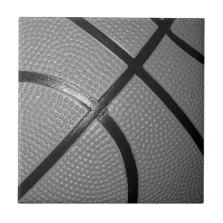 Black & White Close-Up Basketball Tile
