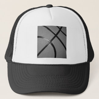 Black & White Close-Up Basketball Trucker Hat