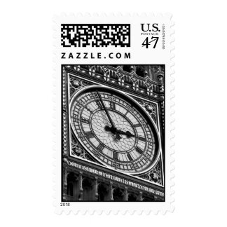 Black & White Close-up Big Ben London Travel Postage