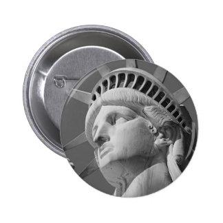 Black & White Close-up Statue of Liberty Pins