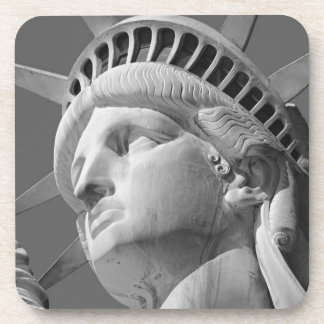 Black & White Close-up Statue of Liberty Coaster