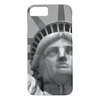 Black & White Close-up Statue of Liberty iPhone 8/7 Case