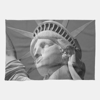 Black White Close-up Statue of Liberty Kitchen Towel
