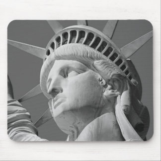 Black & White Close-up Statue of Liberty Mouse Pad