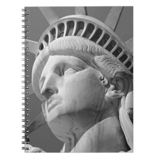 Black & White Close-up Statue of Liberty Notebook