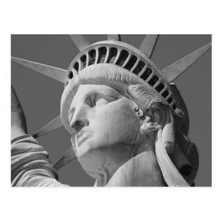 Black & White Close-up Statue of Liberty Postcard