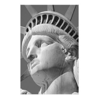 Black & White Close-up Statue of Liberty Stationery