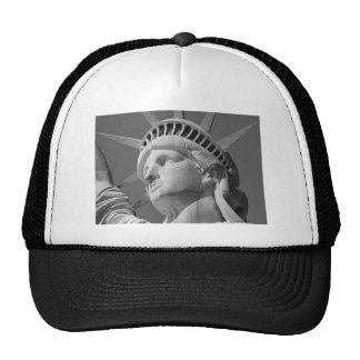 Black & White Close-up Statue of Liberty Trucker Hat