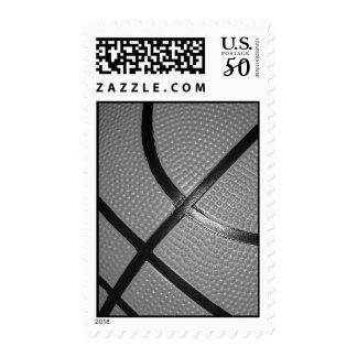 Black & White Closeup Basketball Stamp