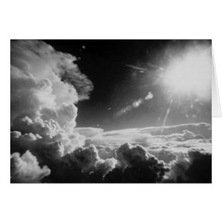 Black & White clouds Greeting Cards