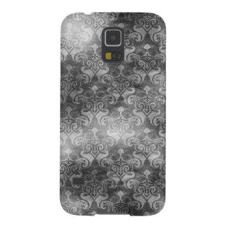 Black & White Cloudy Damask Galaxy S5 Case