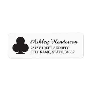 Black & White Club Return Address Labels