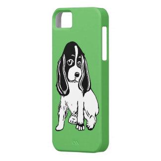 Black White Cocker Spaniel Green iPhone 5/5s Case
