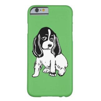 Black White Cocker Spaniel Green iPhone 6 Case