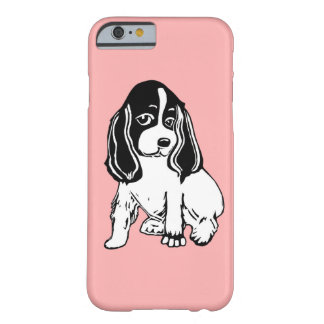 Black White Cocker Spaniel Pink iPhone 6 Case