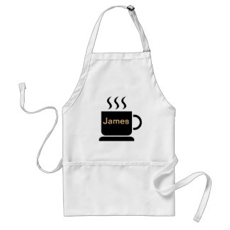 Black White Coffee Lover Personalized Gift Adult Apron