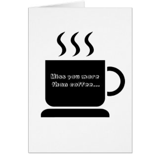 Black White Coffee Lover Personalized Gift Card
