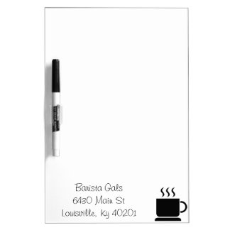 Black White Coffee Lover Personalized Gift Dry-Erase Whiteboard