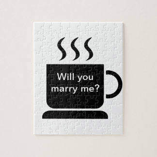 Black White Coffee Lover Personalized Gift Puzzle