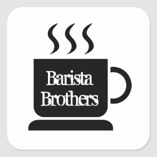 Black White Coffee Lover Personalized Gift Square Sticker