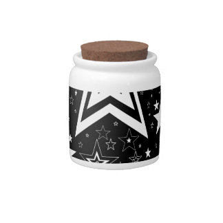 BLACK & WHITE COLLECTION CANDY JAR