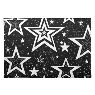 BLACK & WHITE COLLECTION CLOTH PLACEMAT