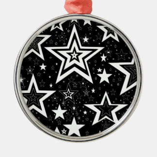 BLACK & WHITE COLLECTION METAL ORNAMENT