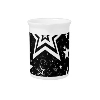 BLACK & WHITE COLLECTION PITCHER