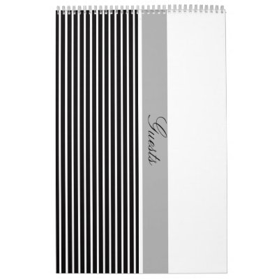 Black White Collection Wedding Guest Book Calendar by noteworthy