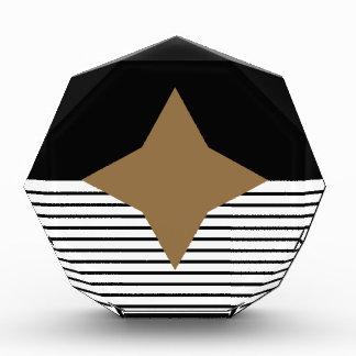 Black White Colorblock & Brown Diamond Award