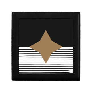 Black White Colorblock & Brown Diamond Gift Box