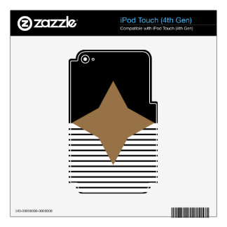 Black White Colorblock & Brown Diamond Skins For iPod Touch 4G