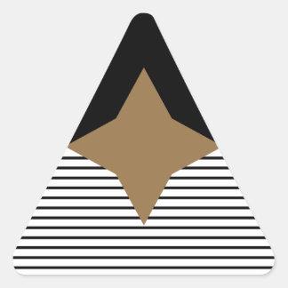 Black White Colorblock & Brown Diamond Triangle Sticker