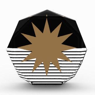 Black White Colorblock & Brown Sun Award