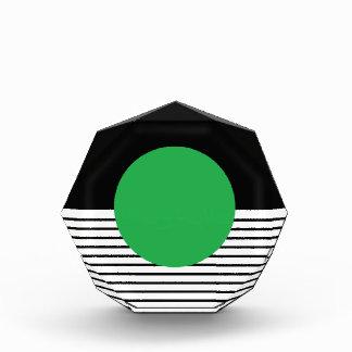 Black White Colorblock & Green Circle Award