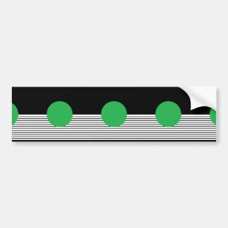Black White Colorblock & Green Circle Car Bumper Sticker