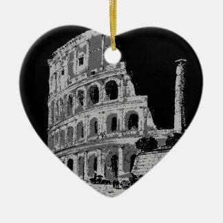 Black & White Colosseum Ceramic Ornament