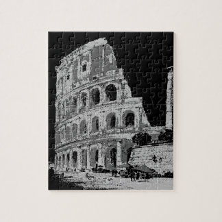 Black & White Colosseum Jigsaw Puzzle