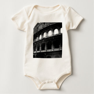 Black White Colosseum Roman Empire Baby Bodysuit