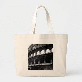 Black White Colosseum Roman Empire Jumbo Tote Bag